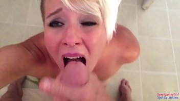 11 inch deep throat - Deep throat with a mouth full of cum