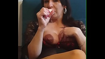 Tears and saliva. Polish amateur putting vibrator really deep in her throat