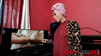 Alex Jett's new stepmom Cali Lee, is definitely different from what he had expected, with her weird religion and those hijabs she always wears, he has some trouble adjusting to having her around. - FULL SCENE on http:\/\/PervMoM3x.com