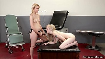 Blonde lesbian patient anal toyed