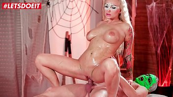 LETSDOEIT - Halloween Kinky Massage For Hungarian MILF Kayla Green