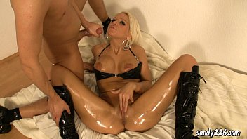 Plastic vinyl pvc fetish - Assfucking with hot latex wench