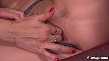 Busty lesbians Jasmine Jae and Ania Kinski lick and finger their wet pinks
