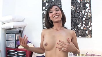 Tiny Asian woman appears in her first ever video