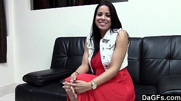 First casting with fucking an hot busty latina