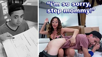 BANGBROS - Angry MILF Ariella Ferrera Punishes Reckless Step Son