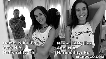 Real Life TWINs Fuck Rocco's XXL Cock - Kitty Fox and Nikki Fox