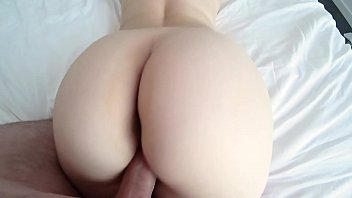 White girl with big ass in red panties and pantyhose gets fucked