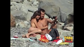 Sunbathing and nudists At nude beaches with hidden camera