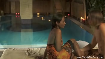 Erotic Outdoor Sex Massage Of A Couple Relaxation