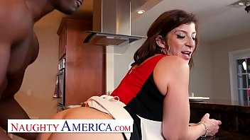 Naughty America Sara Jay enjoys her chocolate cream pie