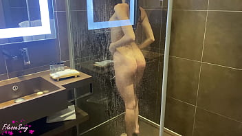 Hot Girl had Blowjob and Passionate Fucking in Shower - Homemade