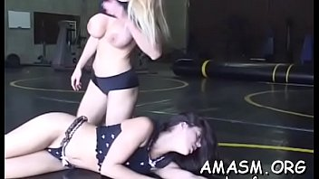 Breasty female smothering