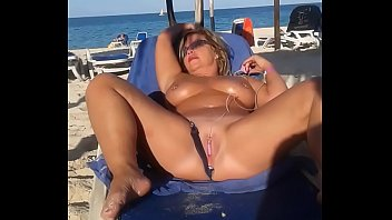 Beach public masturbation My slut wife is masturbating arrondissement people at the beach