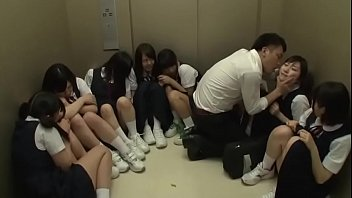 Teacher Stuck in Lift With 10 Japanese Schoolgirls - Part 1