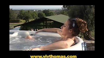 Horny posh chick sexually satisfied in her jacuzzi
