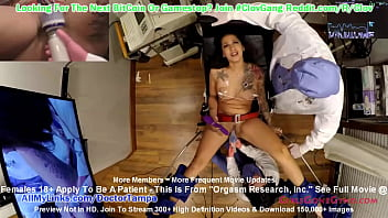 $CLOV - Naive Latina Stefania Mafra Signs up for Orgasm Research, Inc Being Done by Doctor Tampa & Nurse Lenna Lux @GirlsGoneGynoCom