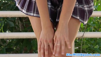 Slutty squirting schoolgirls facial closeup
