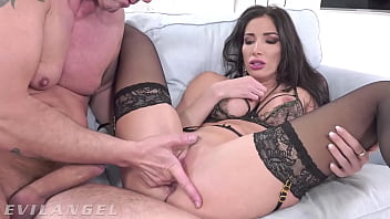 EvilAngel - French Babe Clea Gaultier Ass Pussy & Mouth Fucked