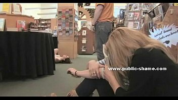 Bdsm library nullification Bitch gets humiliated in public library getting filled with toys and fucked