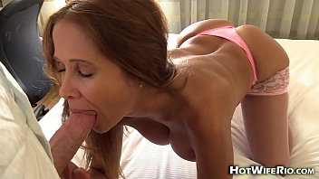 HotWifeRio cheating in hotel cum eating