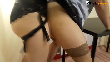 My boyfriend in stockings asked me to fuck him, I didn't refuse!