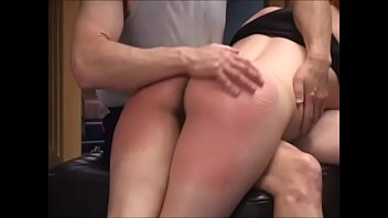Hairy, busty yoga girl Maggie Mayhem spanked and fucked by instructor