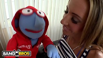 BANGBROS - Busty Richelle Ryan Gets Felt Up And Eaten Out By A Perverted Puppet