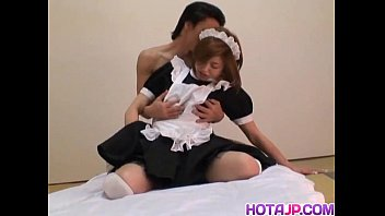 Harsh sex along Asian maid Ai