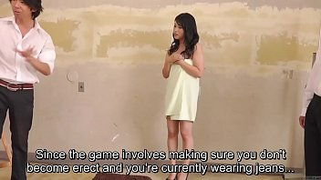 Subtitled CMNF ENF shy Japanese milf nude art class in HD thumbnail