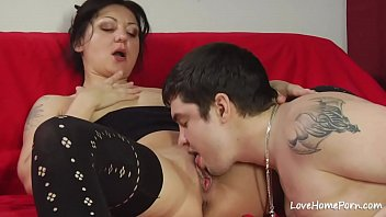 After licking her cunt she will ride him