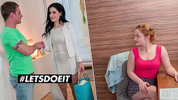 LETSDOEIT - #Alex Black #Alex Ginger - Lucky Guy Bangs Hard His Girl And Her Sexy Busty Stepmom