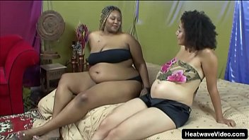 Black pregnant babes seduce one another for lesbian sex