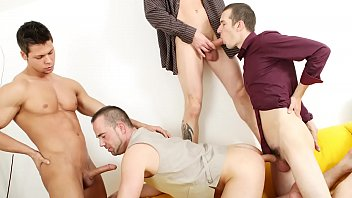Free gay group sex anal - Gaywire - this casting session turns into a full blown bareback orgy