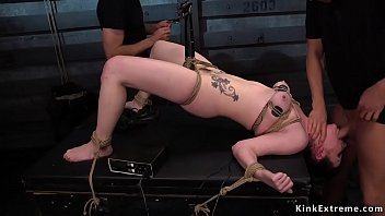 Huge ass slave anally trained in dungeon