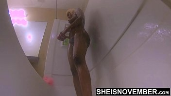 60fps Slow Motion Extremely Close-up Looking Into My Dirty Butthole After Sex With Step Dad, Skinny Bigass Babe Msnovember Standing In Shower Bigbooty Ass Cheeks Spread Wide Open on Sheisnovember 4k