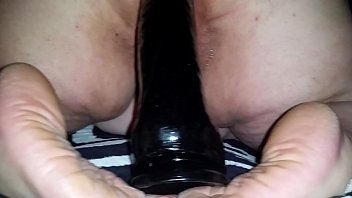 Monster black dildo - Bbw ambyr parker riding monster black dildo