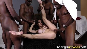 Coed gets black gang bang - Mckenzie lee bbc dp gangbang