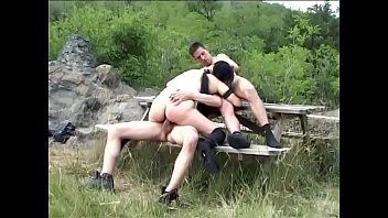 Countryside sex Trip to the countryside with two cocks ready for use