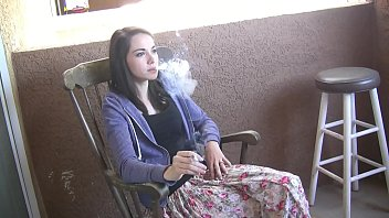 Emily Grey hot teen girl smoking a cigarette
