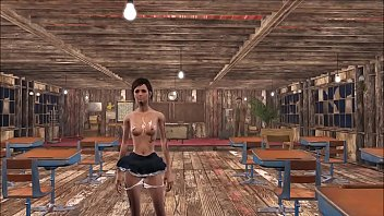 Fallout 4 Play with Schoolgirl