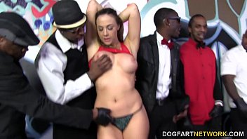 Bukkake by the dozen Chanel preston takes huge facial from bbcs