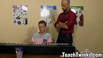 Slender twink Billy London anal slammed by older teacher