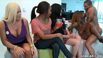 Horny party girls showing off their dick sucking skills