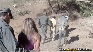 Border Gaurd Blackmails Illegal Spanish Teenie
