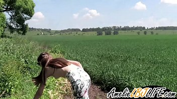 Cute Girl Public Blowjob Big Dick Stranger Outside - Cum in Mouth