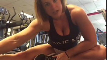 Charli fingers her pussy in the Gym - Pornhubcom 4 min