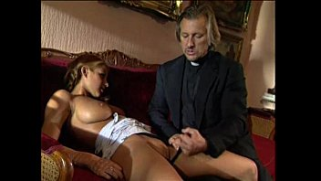 Vintage hard Young blonde lolita punished and fucked by pervert priest