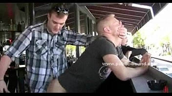 Hairy gay ass fucked deep in public sex