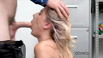 Paisley Bennett bends over for security officers cock